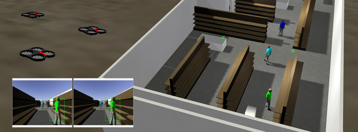 Simulation and 3D tracking.